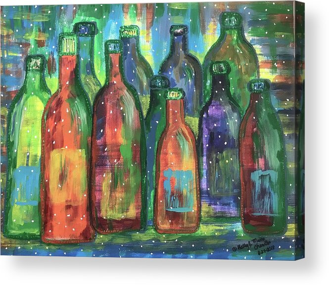 Wine Acrylic Print featuring the painting Vintage Estate Wine by Kathy Marrs Chandler