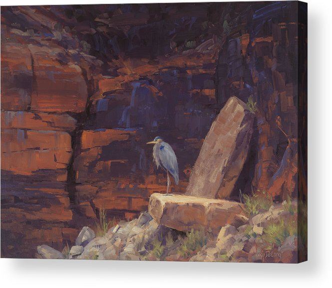Wading Birds Acrylic Print featuring the painting Waiting by Cody DeLong