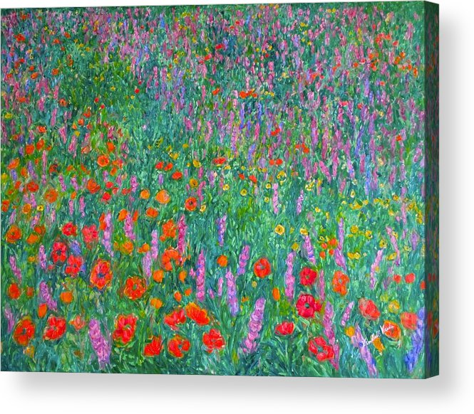 Kendall Kessler Acrylic Print featuring the painting Wildflower Current by Kendall Kessler