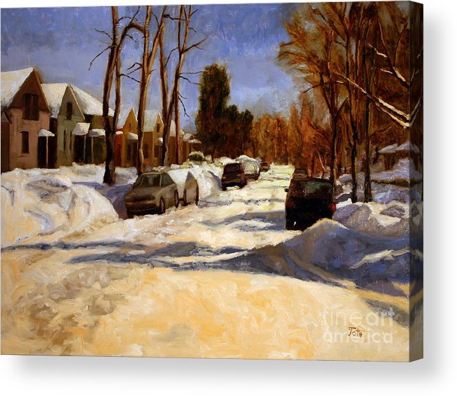 Snow Acrylic Print featuring the painting Winter in the Highlands by Tate Hamilton