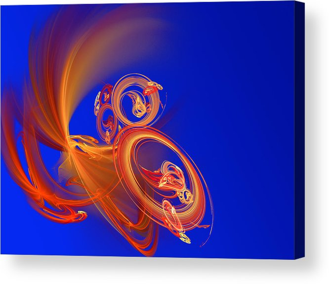 Motion Acrylic Print featuring the digital art Frantic by Werner Hilpert