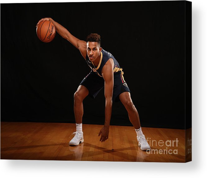 Nba Pro Basketball Acrylic Print featuring the photograph 2017 Nba Rookie Photo Shoot by Brian Babineau