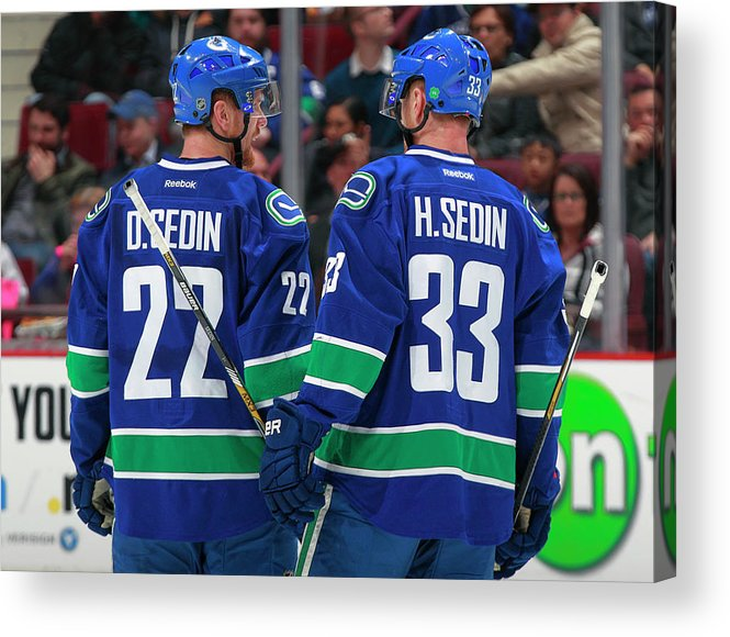 National Hockey League Acrylic Print featuring the photograph Minnesota Wild V Vancouver Canucks by Jeff Vinnick