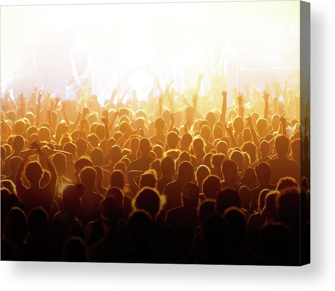 Rock Music Acrylic Print featuring the photograph Concert Crowd by Alenpopov