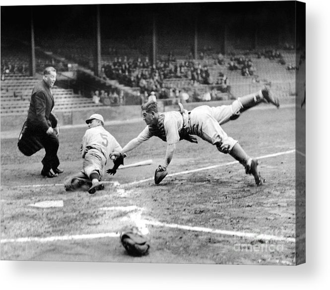 Catching Acrylic Print featuring the photograph National Baseball Hall Of Fame Library by National Baseball Hall Of Fame Library