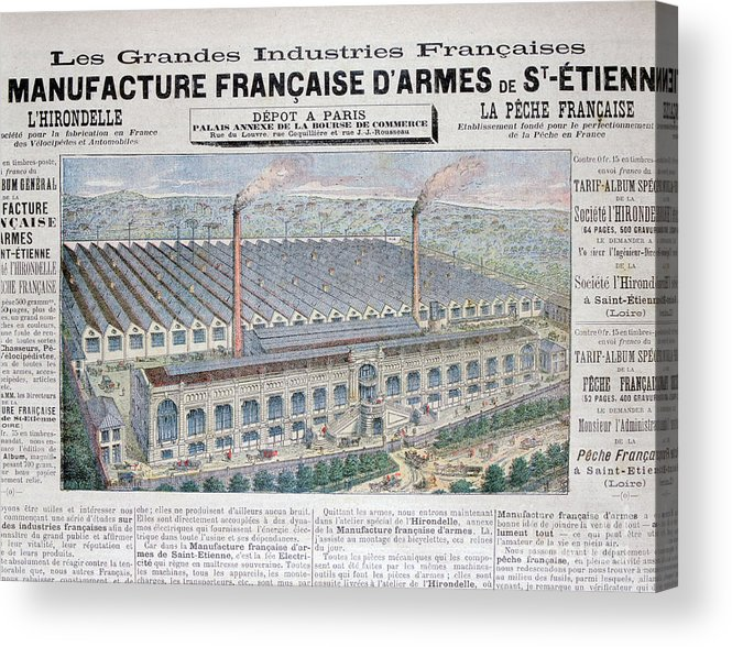 Loire Valley Acrylic Print featuring the drawing Arms Manufacturing Industry, St by Print Collector