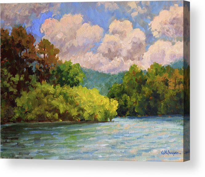 Impressionism Acrylic Print featuring the painting Birch Point by Keith Burgess