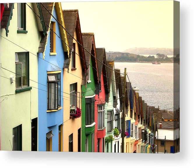 Electricity Pylon Acrylic Print featuring the photograph Cobh, Cork by Photo By Natale Carioni