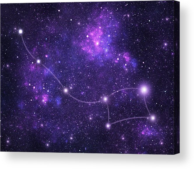 Dust Acrylic Print featuring the photograph Constellations. Ursa Minor Umi by Sololos