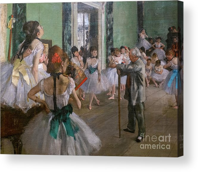 Dance Acrylic Print featuring the painting Degas, The Dance Class Detail by Edgar Degas