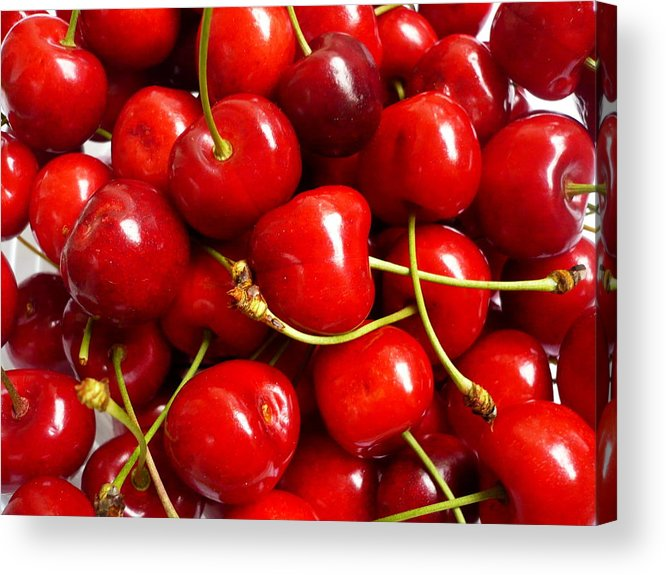Cherry Acrylic Print featuring the photograph Fresh Red Cherries by Vienna Mornings