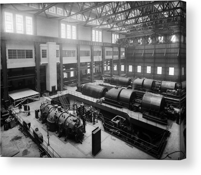 1930-1939 Acrylic Print featuring the photograph Fulham Power Station by Fox Photos