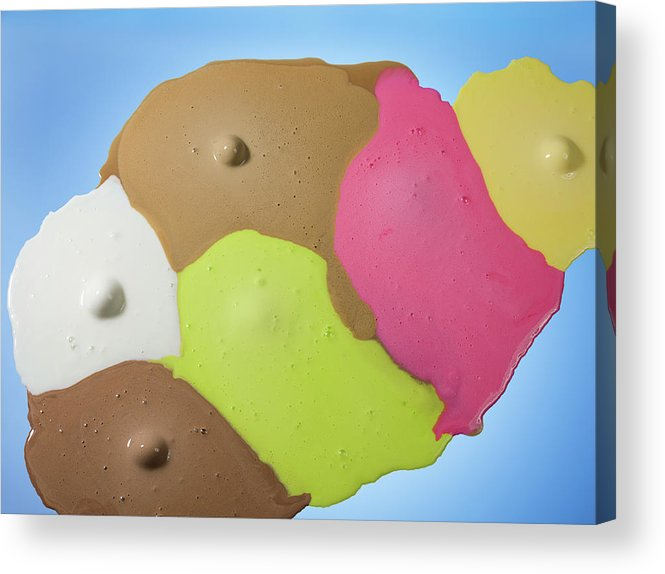 Melting Acrylic Print featuring the photograph Ice Cream Scoops Melting, Different by Jonathan Knowles