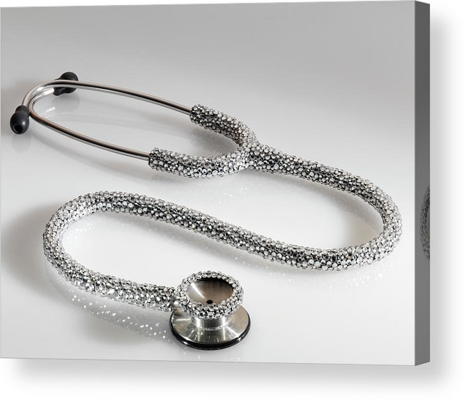 Expertise Acrylic Print featuring the photograph Jewelled Stethoscope by Terry Mccormick