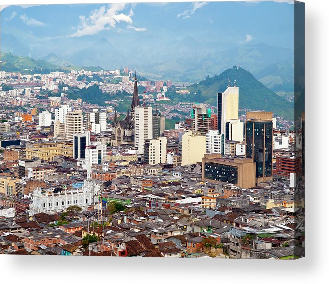 Built Structure Acrylic Print featuring the photograph Manizales City View, Colombia by Holgs