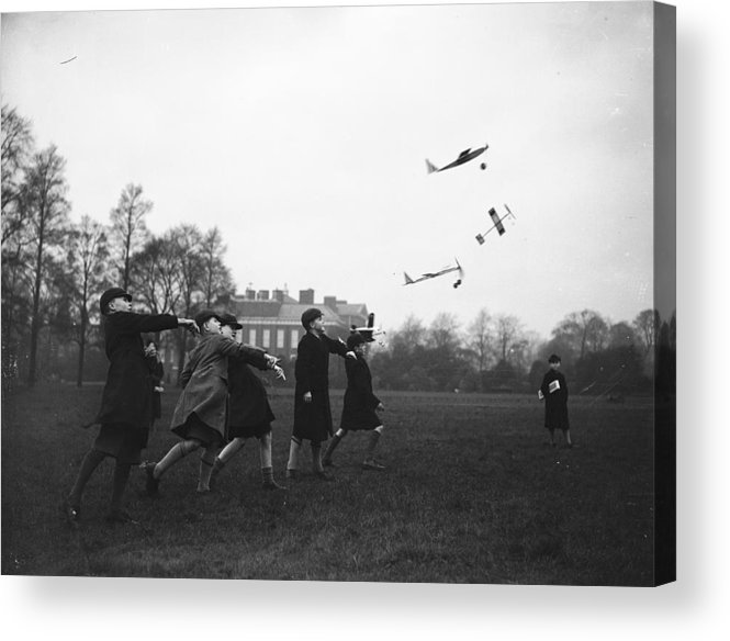 Child Acrylic Print featuring the photograph Model Aeroplanes by Fox Photos