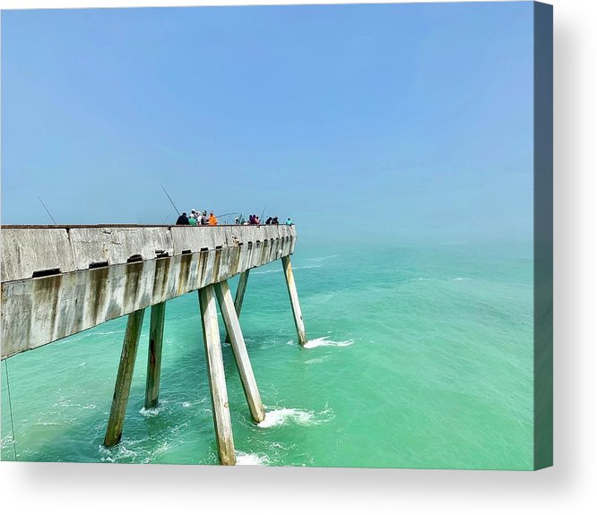 Pier Acrylic Print featuring the photograph Pacifica Pier 1 by Julie Gebhardt