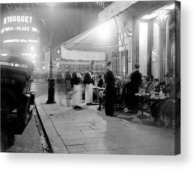 Paris Acrylic Print featuring the photograph Paris Cafe by Fox Photos