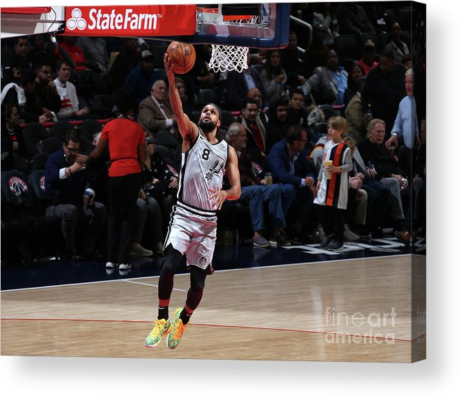 Nba Pro Basketball Acrylic Print featuring the photograph San Antonio Spurs V Washington Wizards by Stephen Gosling