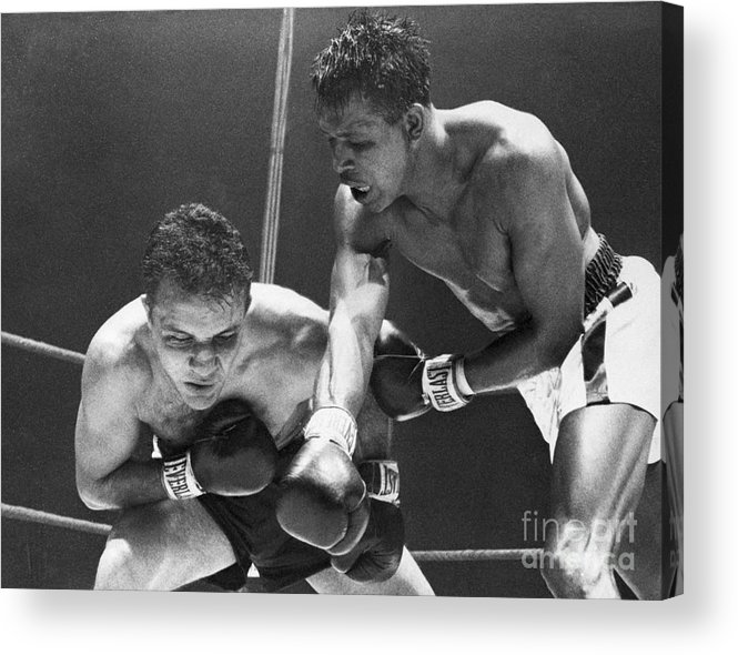 Conspiracy Acrylic Print featuring the photograph Sugar Ray Robinson Fighting Jake by Bettmann