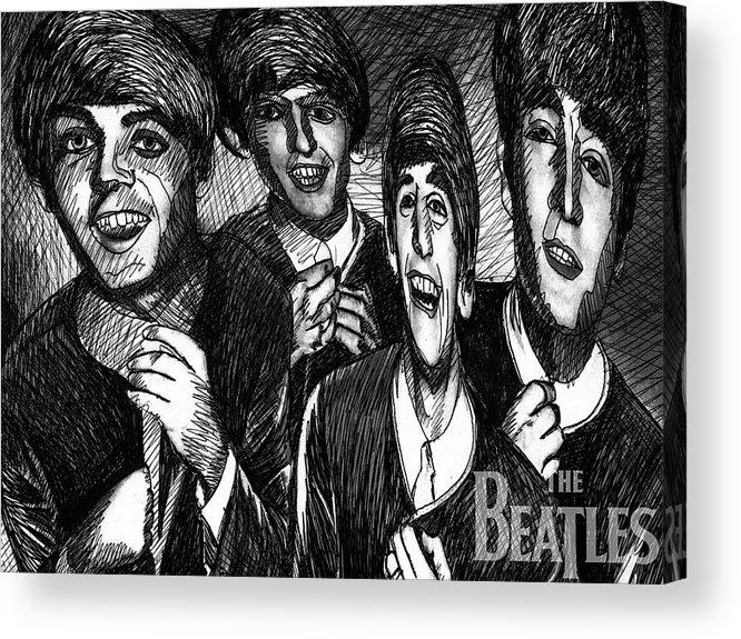 Beatles Acrylic Print featuring the painting The Beatles by Stephen Humphries