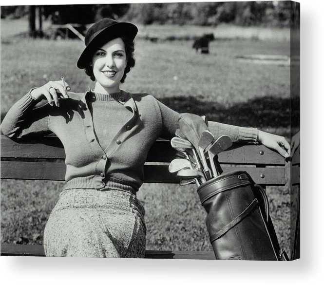 Smoking Acrylic Print featuring the photograph Time Out by Archive Holdings Inc.