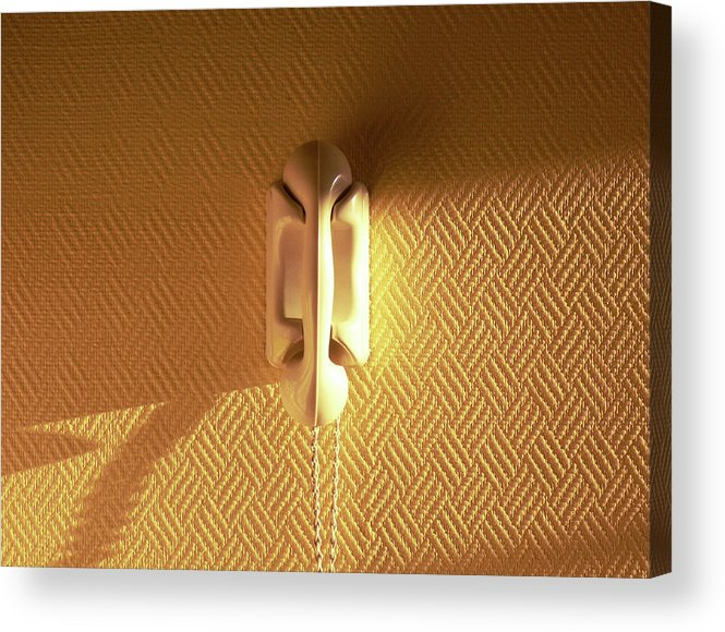 Loire Valley Acrylic Print featuring the photograph Yellow Phone by Max Nathan