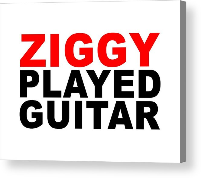 Jimi Hendrix Acrylic Print featuring the digital art Ziggy Stardust by Art Popop