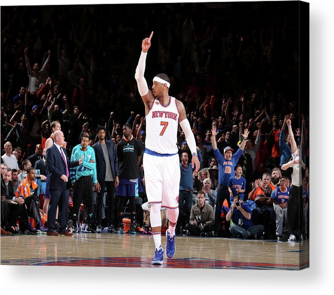 Nba Pro Basketball Acrylic Print featuring the photograph Carmelo Anthony by Nathaniel S. Butler