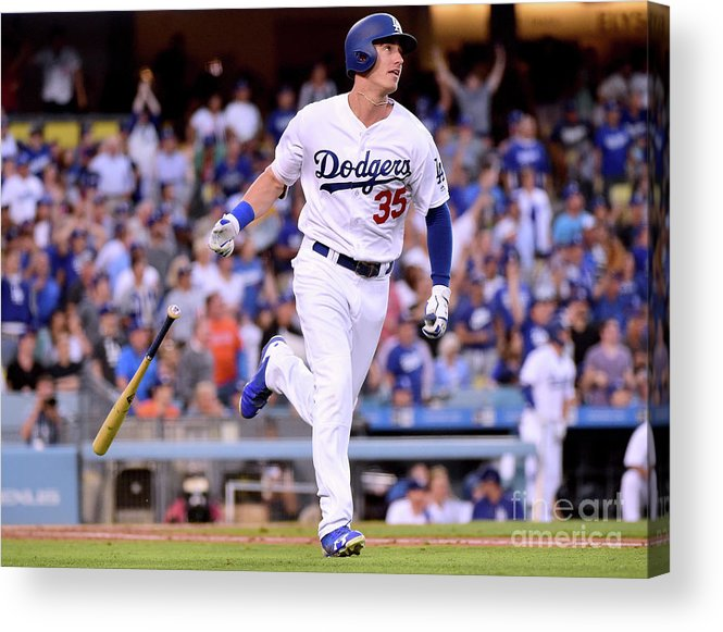 Second Inning Acrylic Print featuring the photograph Cody Bellinger by Harry How