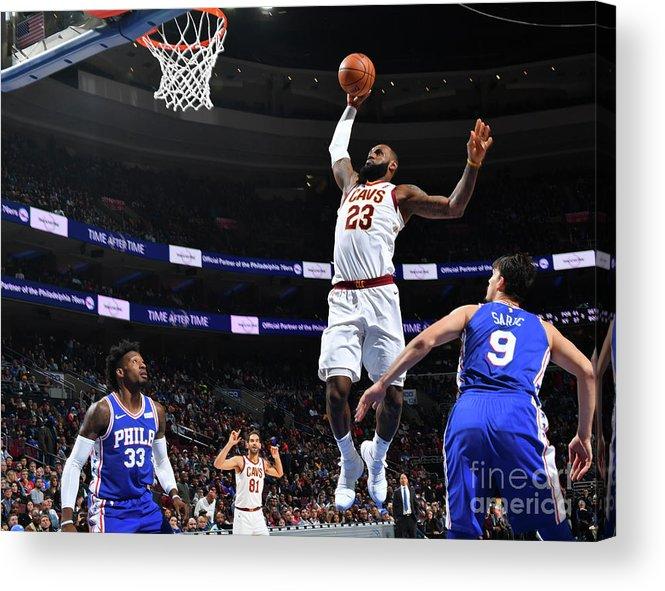 Nba Pro Basketball Acrylic Print featuring the photograph Lebron James by Jesse D. Garrabrant