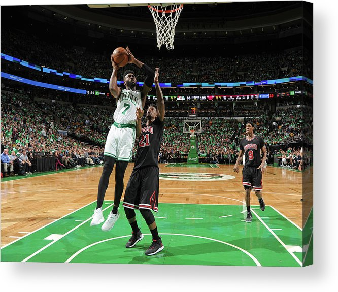 Playoffs Acrylic Print featuring the photograph Jaylen Brown by Brian Babineau