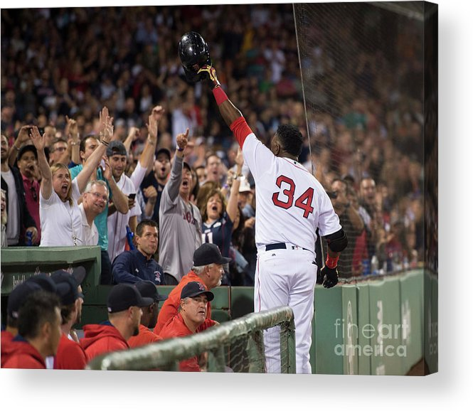Crowd Acrylic Print featuring the photograph David Ortiz by Michael Ivins/boston Red Sox