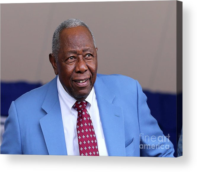 People Acrylic Print featuring the photograph Hank Aaron by Elsa