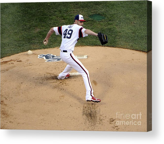 People Acrylic Print featuring the photograph Chris Sale by David Banks