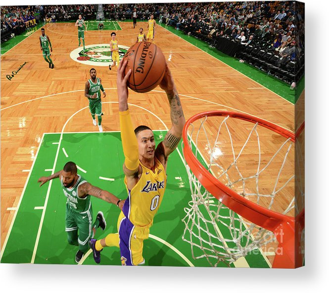 Nba Pro Basketball Acrylic Print featuring the photograph Kyle Kuzma by Jesse D. Garrabrant