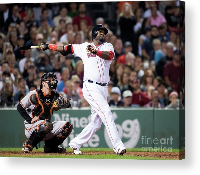 American League Baseball Acrylic Print featuring the photograph David Ortiz by Michael Ivins/boston Red Sox