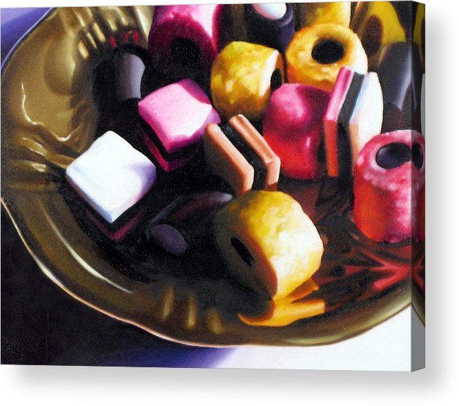 Allsorts Acrylic Print featuring the pastel Allsorts of Colour by Dianna Ponting