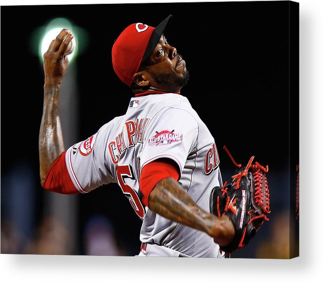Ninth Inning Acrylic Print featuring the photograph Aroldis Chapman by Jared Wickerham