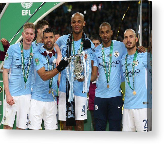 England Acrylic Print featuring the photograph Arsenal v Manchester City - Carabao Cup Final by Rob Newell - CameraSport