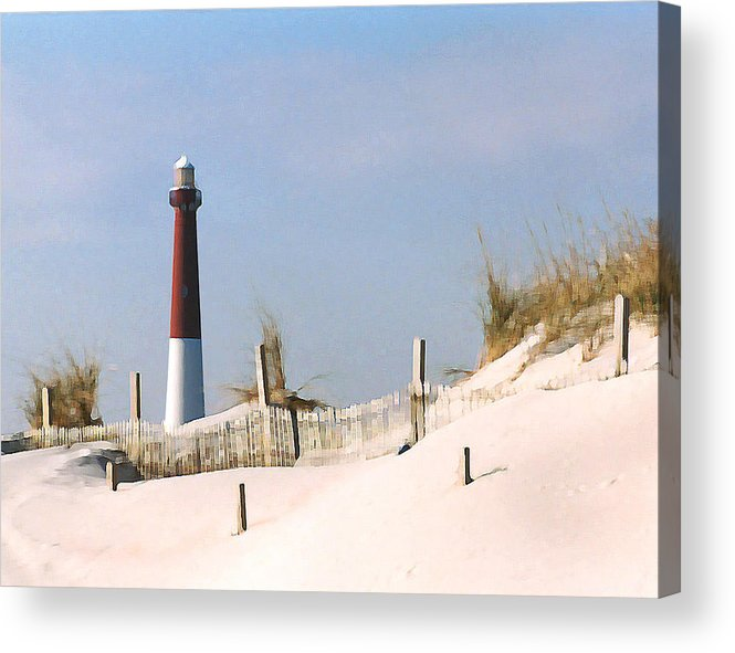 Barnegat Acrylic Print featuring the photograph Barnegat Lighthouse by Steve Karol