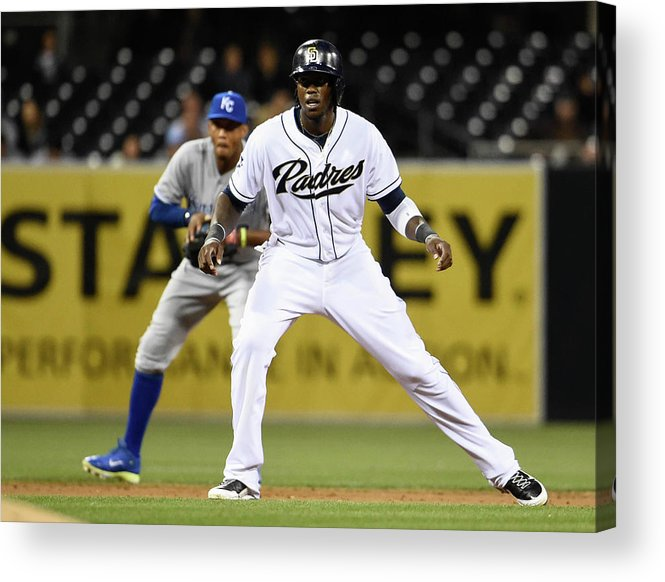Second Inning Acrylic Print featuring the photograph Cameron Maybin and Alcides Escobar by Denis Poroy