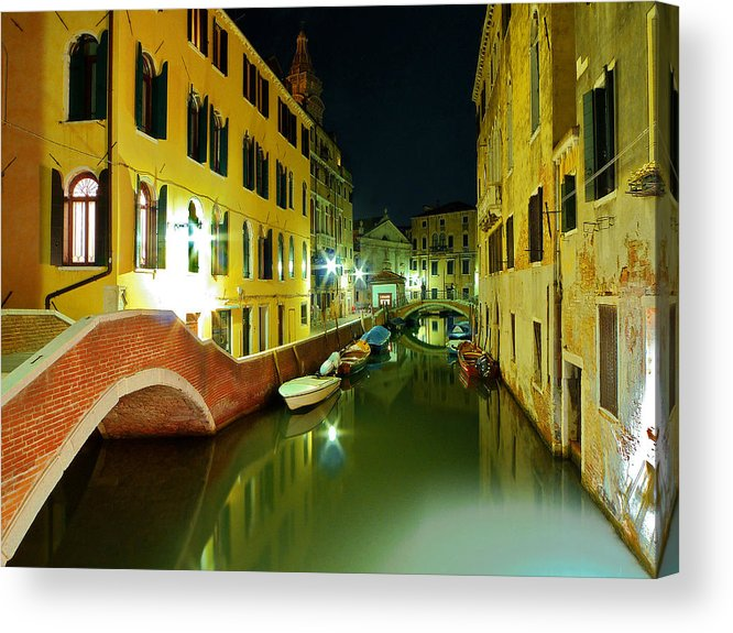 Outdoors Acrylic Print featuring the photograph Canal in Venice by Bernd Schunack