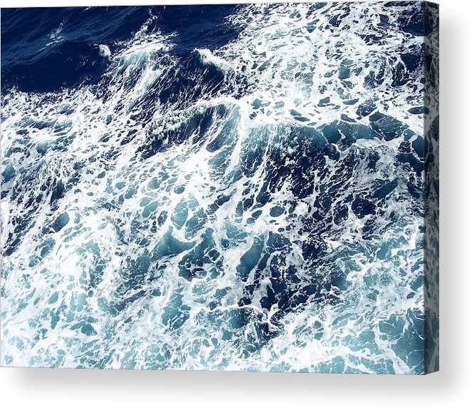 Waves Acrylic Print featuring the photograph Caribbean Waves by Michelle Miron-Rebbe