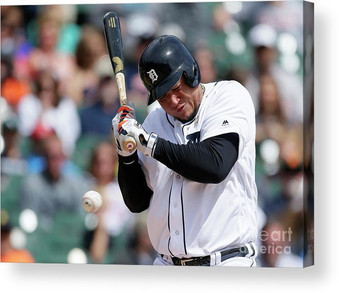 People Acrylic Print featuring the photograph Carlos Carrasco and Miguel Cabrera by Duane Burleson