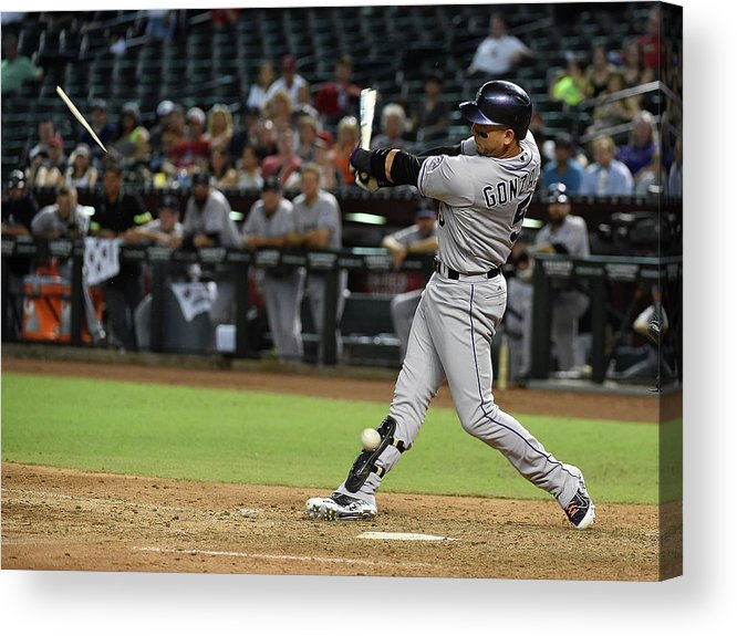Ninth Inning Acrylic Print featuring the photograph Carlos Gonzalez by Norm Hall
