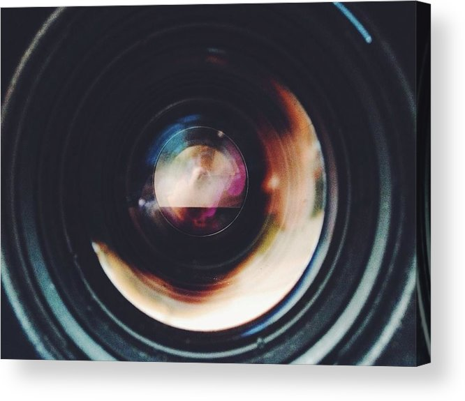 Looking Through An Object Acrylic Print featuring the photograph Close-Up Of Camera Lens by Sinan Saglam / EyeEm