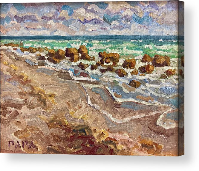 Jupiter Island Acrylic Print featuring the painting Coral Cove by Ralph Papa