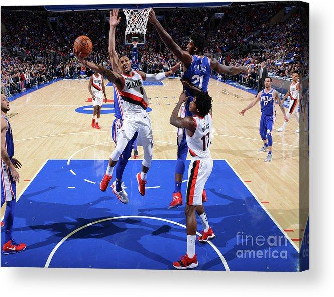 Nba Pro Basketball Acrylic Print featuring the photograph Damian Lillard by Jesse D. Garrabrant