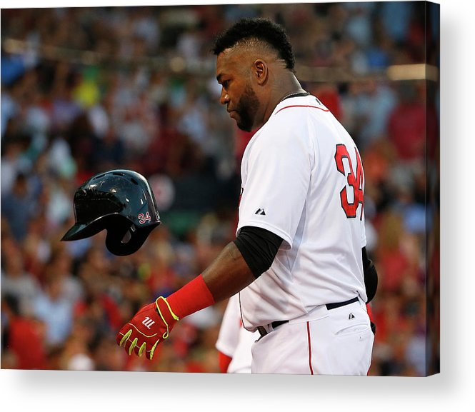 Headwear Acrylic Print featuring the photograph David Ortiz by Winslow Townson